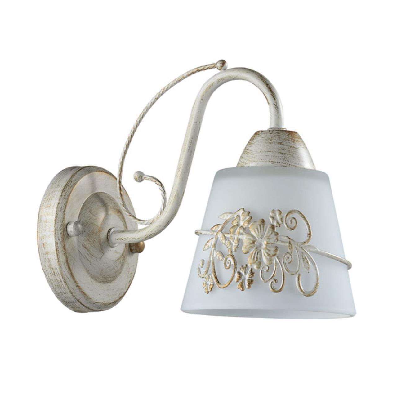 3003/1W COMFI LN16 205 белый/зол. патина/стекло/метал.декор Бра E14 40W 220V VEVA