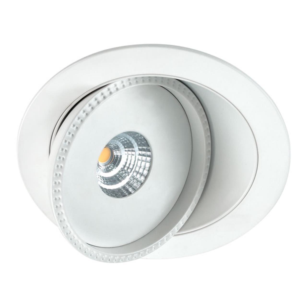 357347 SPOT NT17 080 белый Встраиваемый светильник IP20 LED 3000K 7W 85-265V GESSO