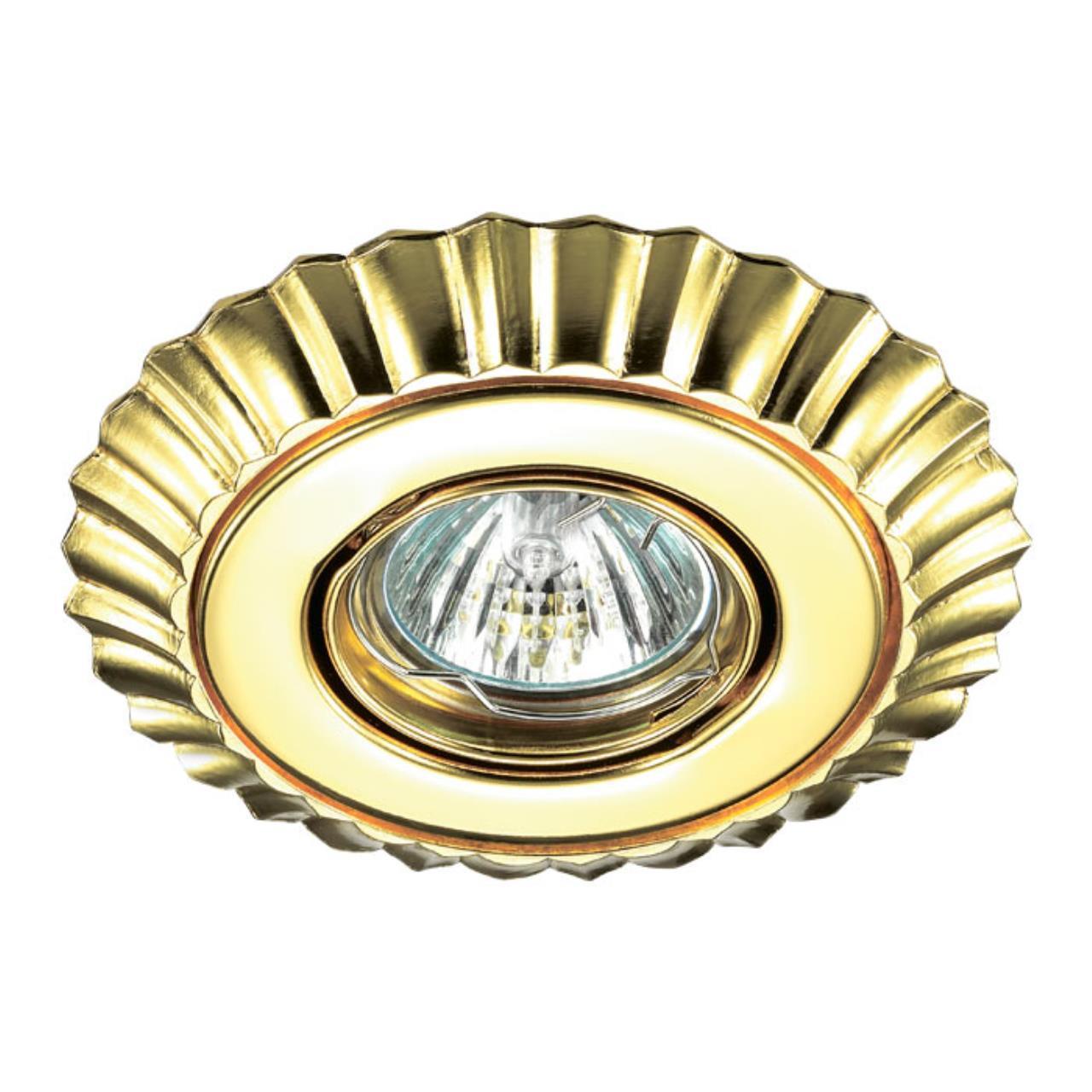 370274 SPOT NT17 132 золото Встраиваемый стандартный поворотный светильник GX5.3 50W 12V LIGNA