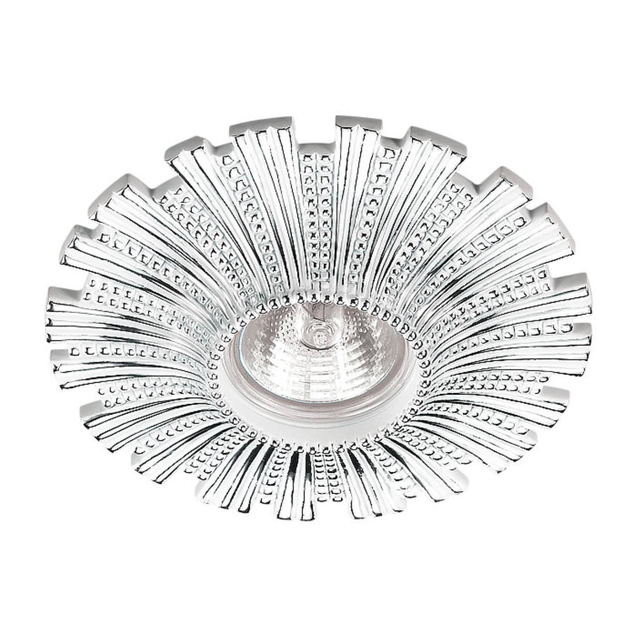 370324 SPOT NT17 117 белый/хром Встраиваемый декоративный светильник GX5.3 50W 12V PATTERN