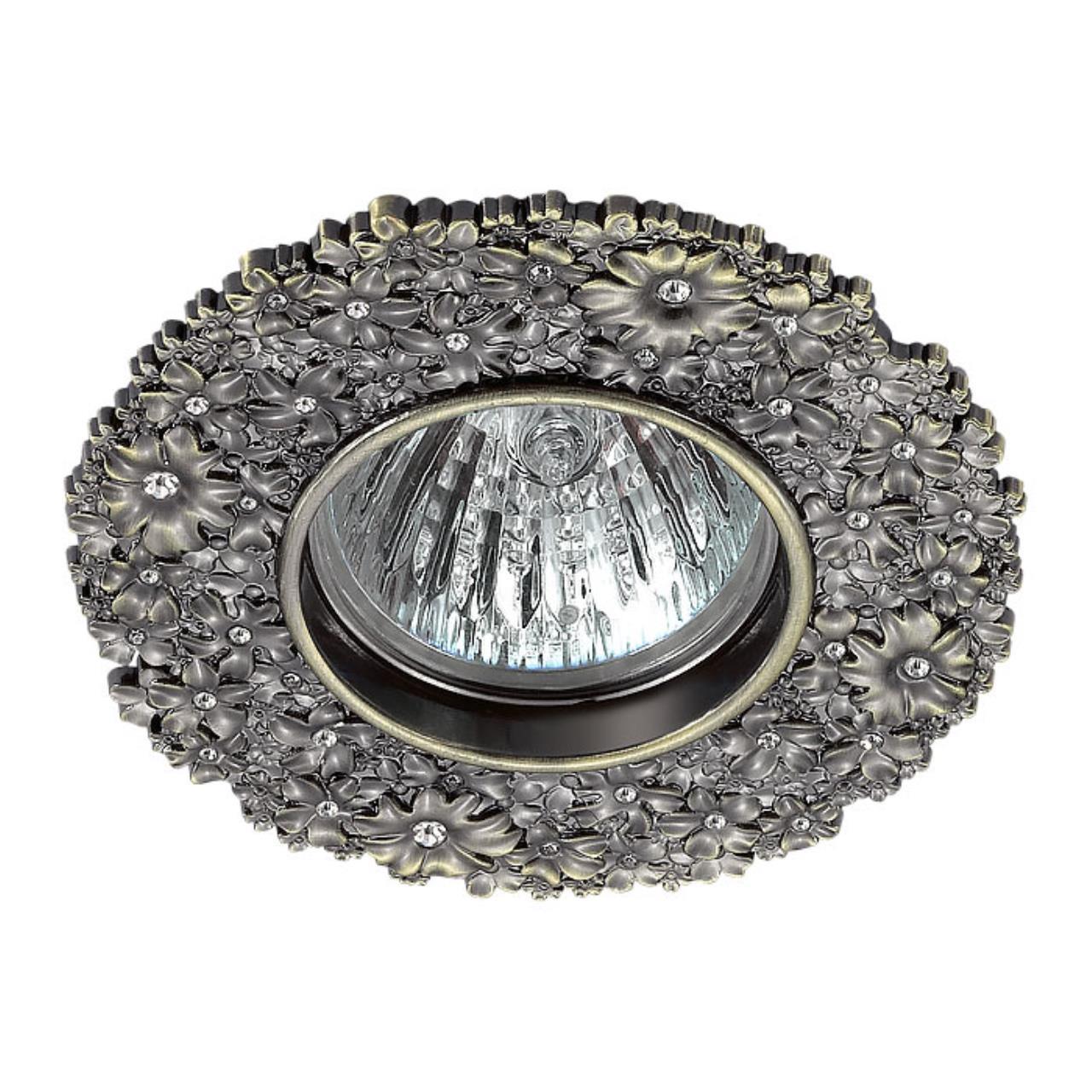 370336 SPOT NT17 114 бронза Встраиваемый декоративный светильник GX5.3 50W 12V CANDI