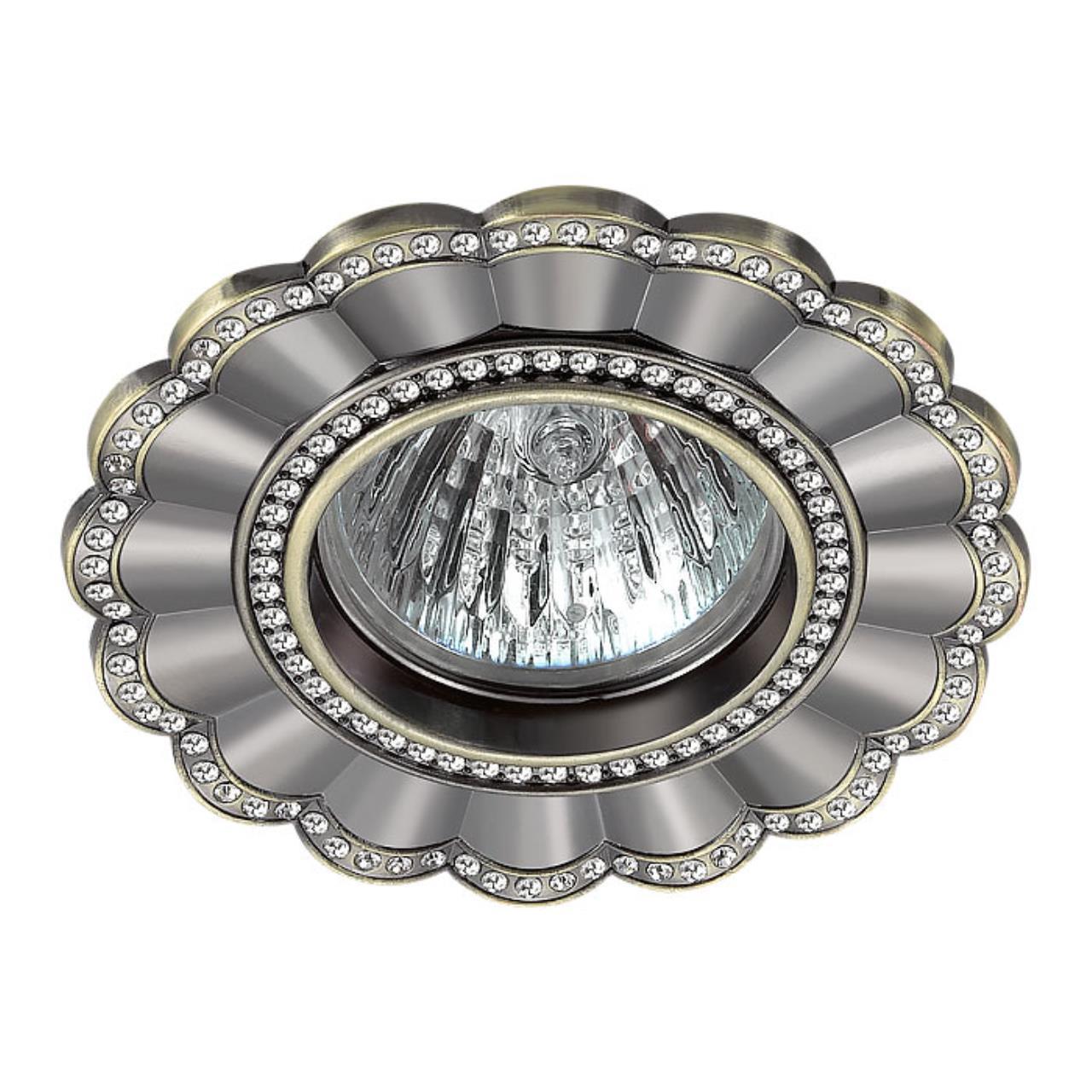 370346 SPOT NT17 121 бронза Встраиваемый декоративный светильник GX5.3 50W 12V CANDI