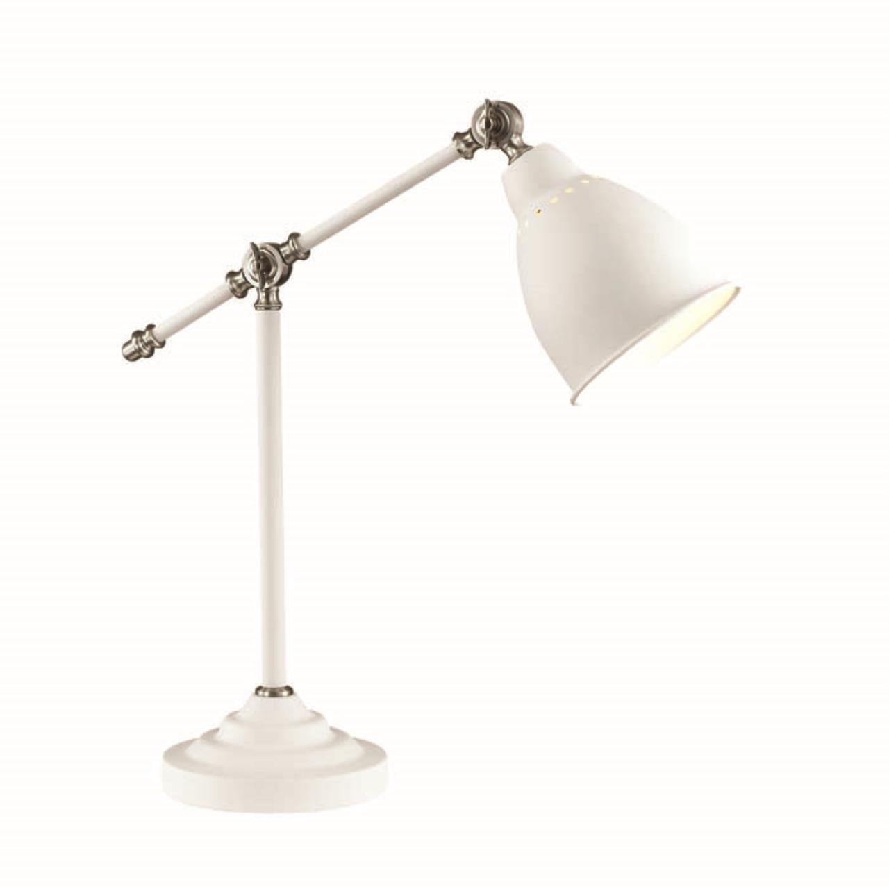 3372/1T STANDING ODL17 677 белый/никель Настольная лампа E27 60W 220V CRUZ