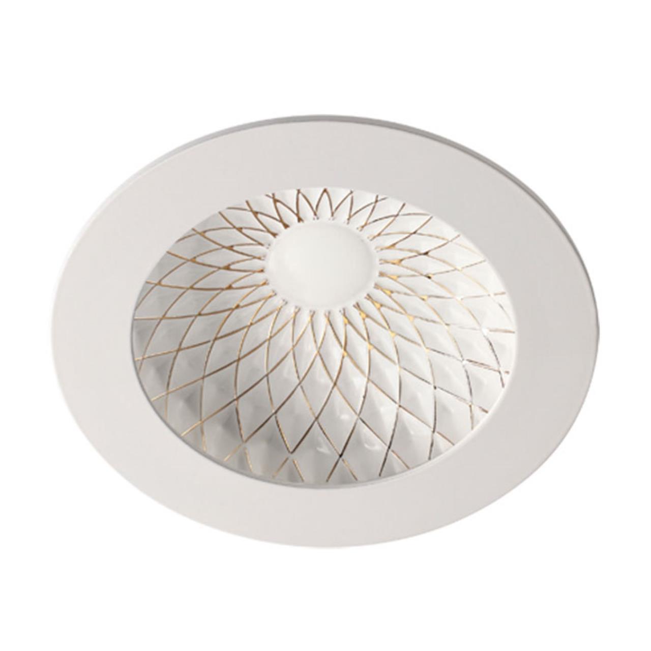 357503 SPOT NT18 141 белый/золото Встраиваемый светильник IP20 LED 3000K 9W 85-265V GESSO