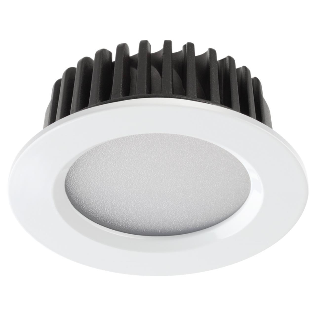 357600 SPOT NT18 090 белый Встраиваемый светильник IP44 LED 3000K 10W 100-265V DRUM