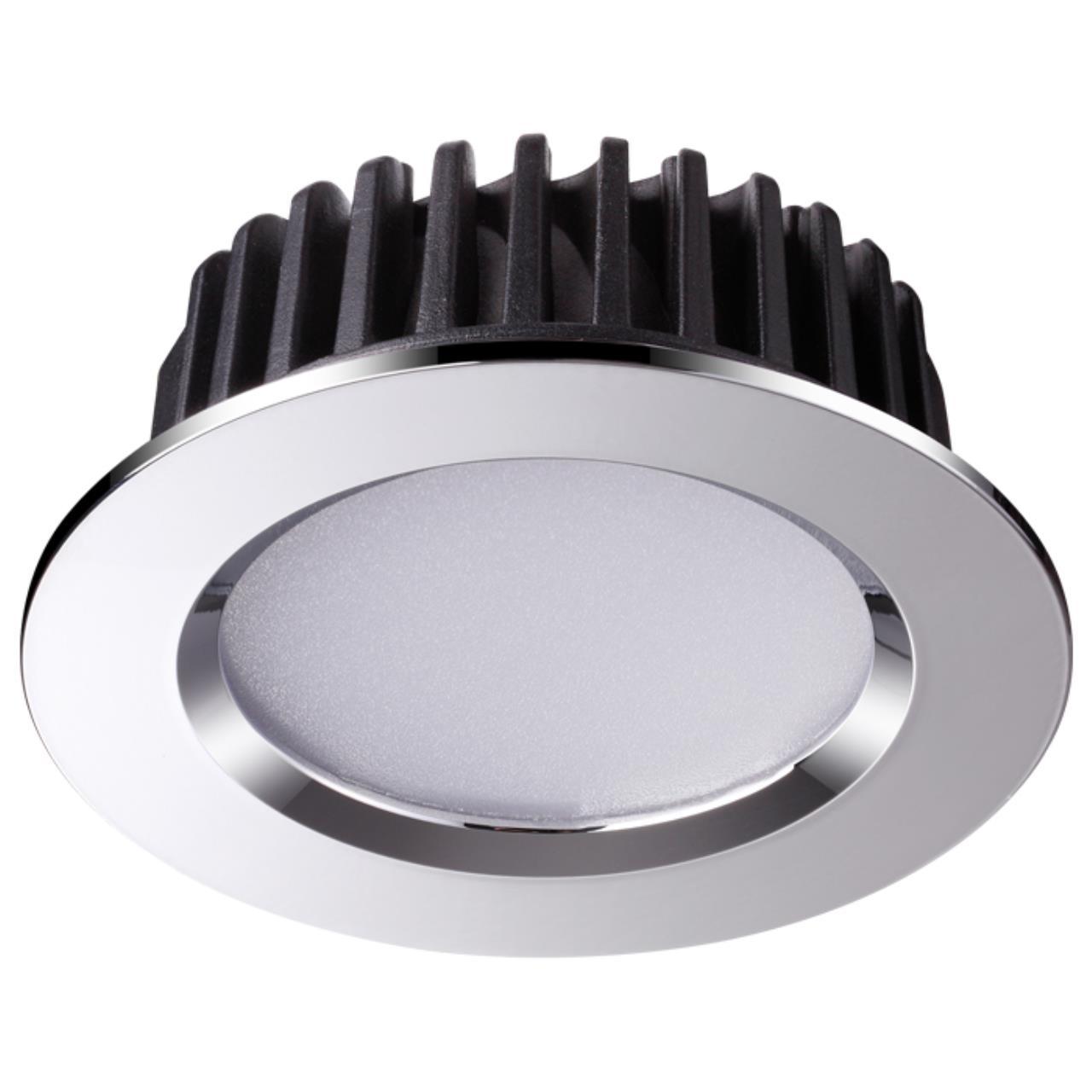 357601 SPOT NT18 090 хром Встраиваемый светильник IP44 LED 3000K 10W 100-265V DRUM