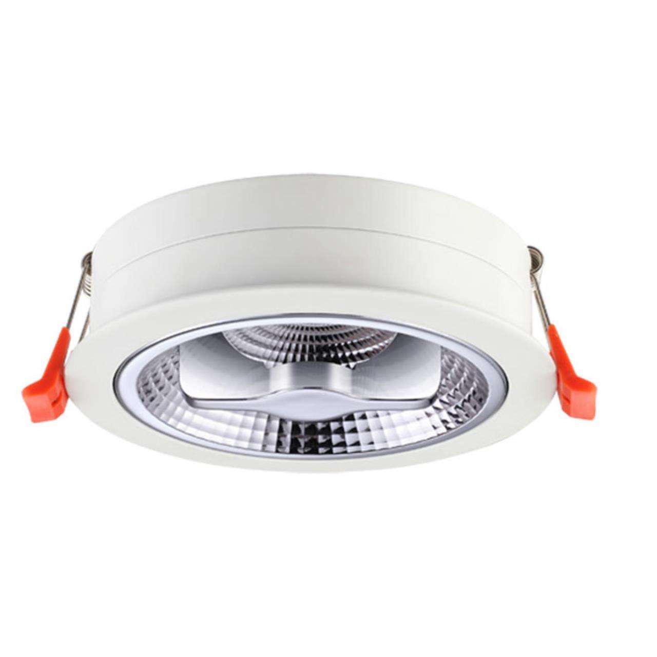 357568 SPOT NT18 095 белый Ввстраиваемый светильник IP20 LED 3000K 15W 220-240V SNAIL