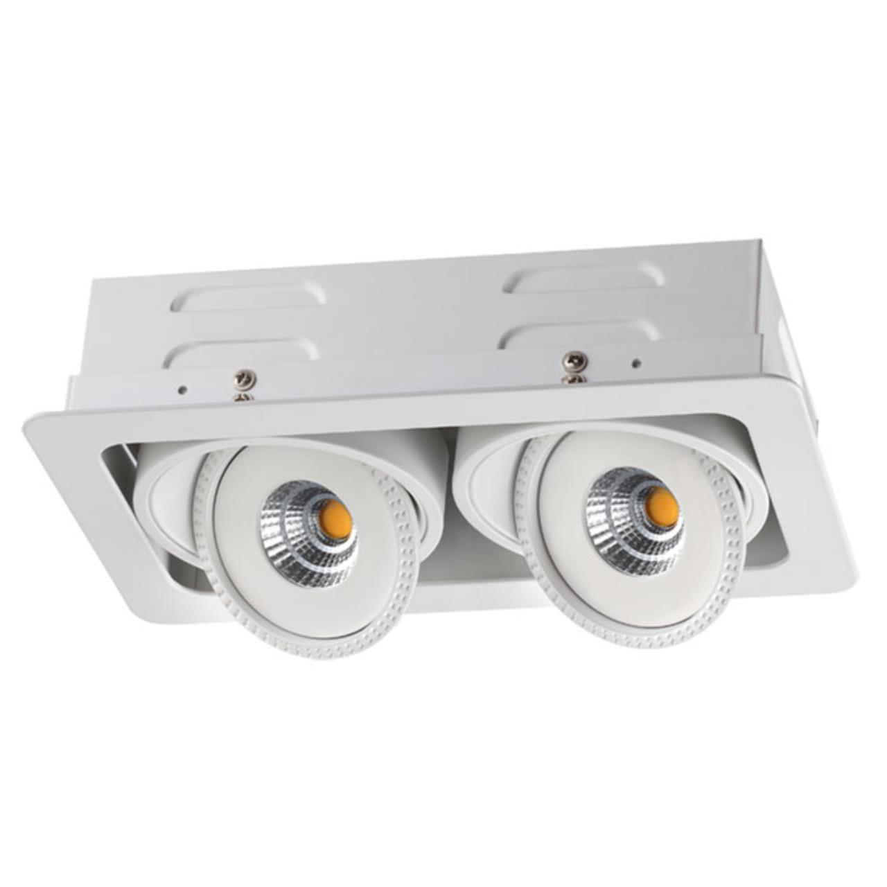 357581 SPOT NT18 081 белый Встраиваемый светильник IP20 LED 3000K 2*15W 85-265V GESSO