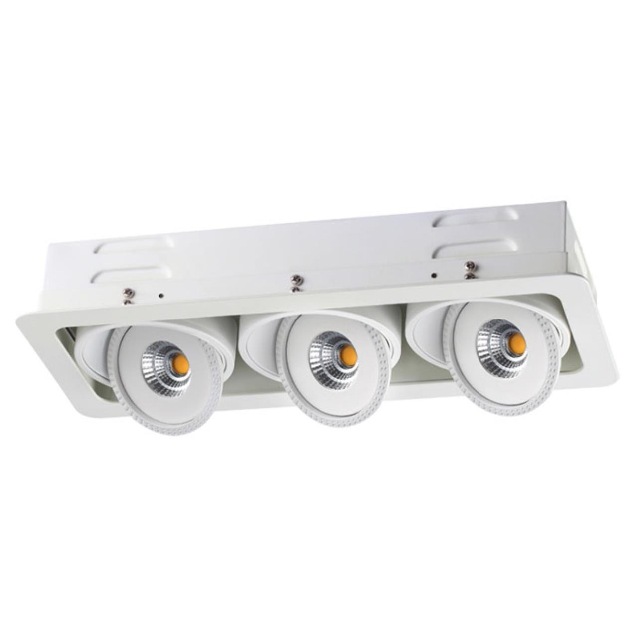 357582 SPOT NT18 081 белый Ввстраиваемый светильник IP20 LED 3000K 3*15W 85-265V GESSO