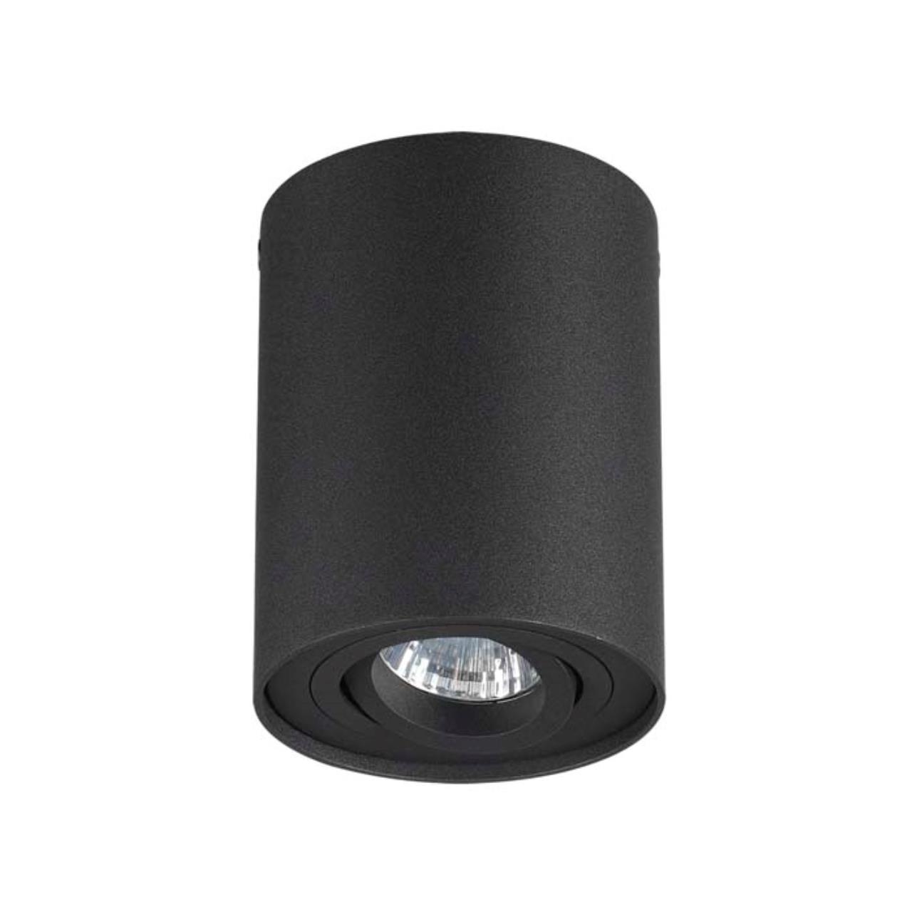 3565/1C HIGHTECH ODL18 185 черный Потолочный накладной светильник IP20 GU10 1*50W 220V PILLARON