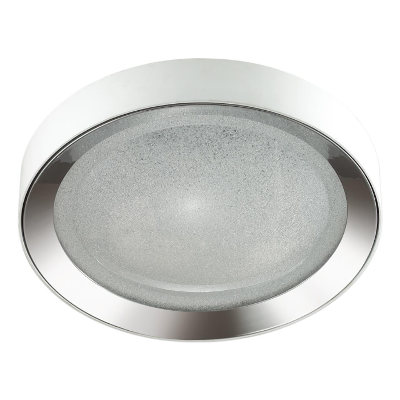 4018/57CL L-VISION ODL18 63 бел/хром/прозрачн Люстра потолочная IP20 LED 57W 220V TENO