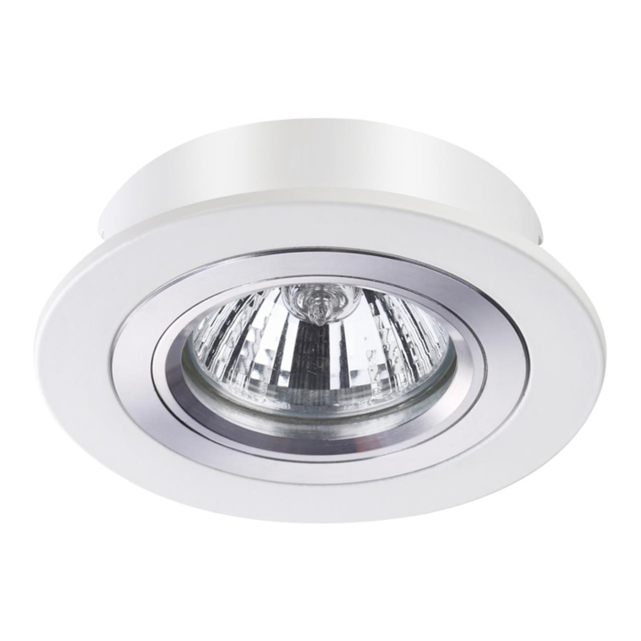 370390 SPOT NT18 130 белый Встраиваемый светильник IP20 GX5.3 50W 12V MORUS