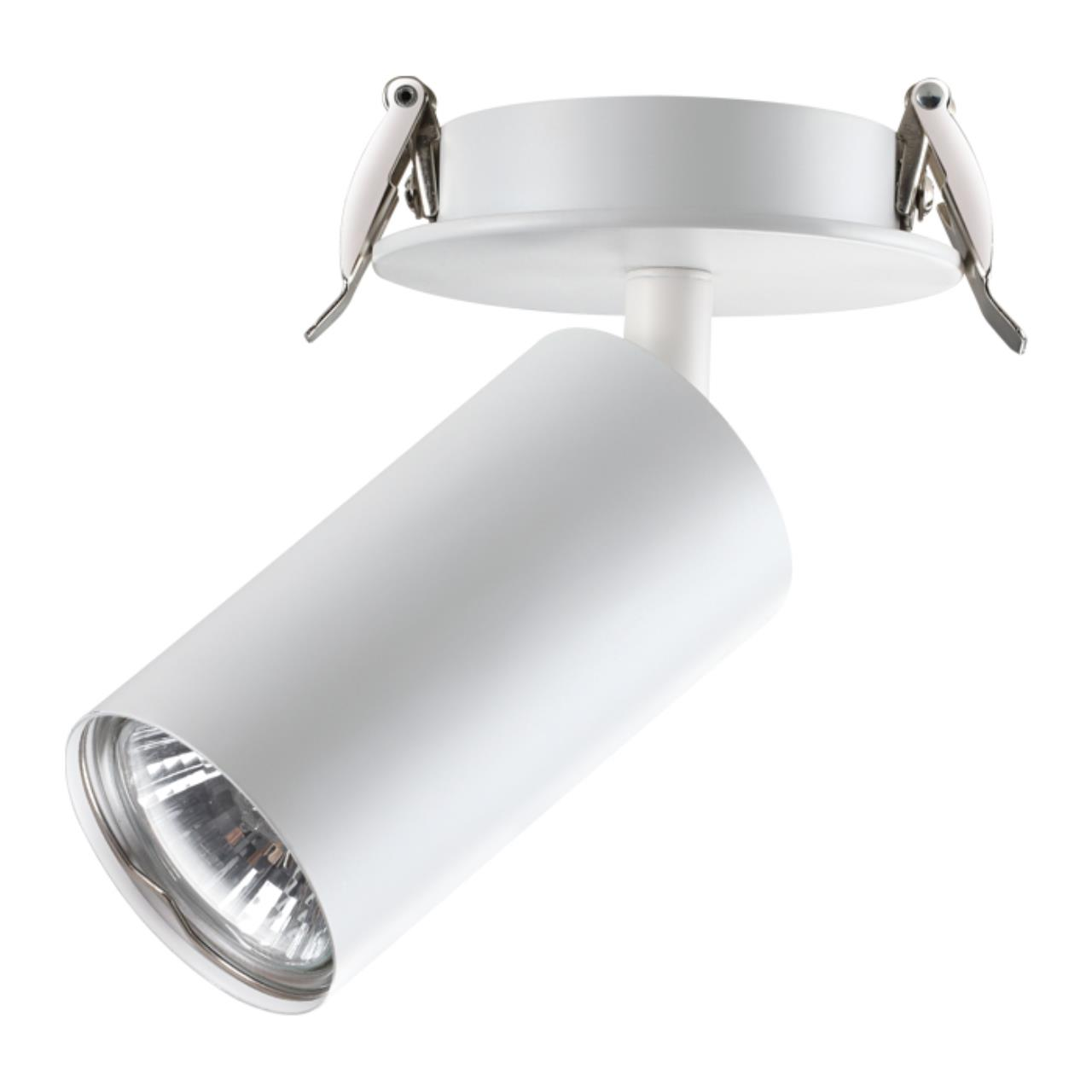 370393 SPOT NT18 101 белый Встраиваемый светильник IP20 GU10 50W 220V PIPE