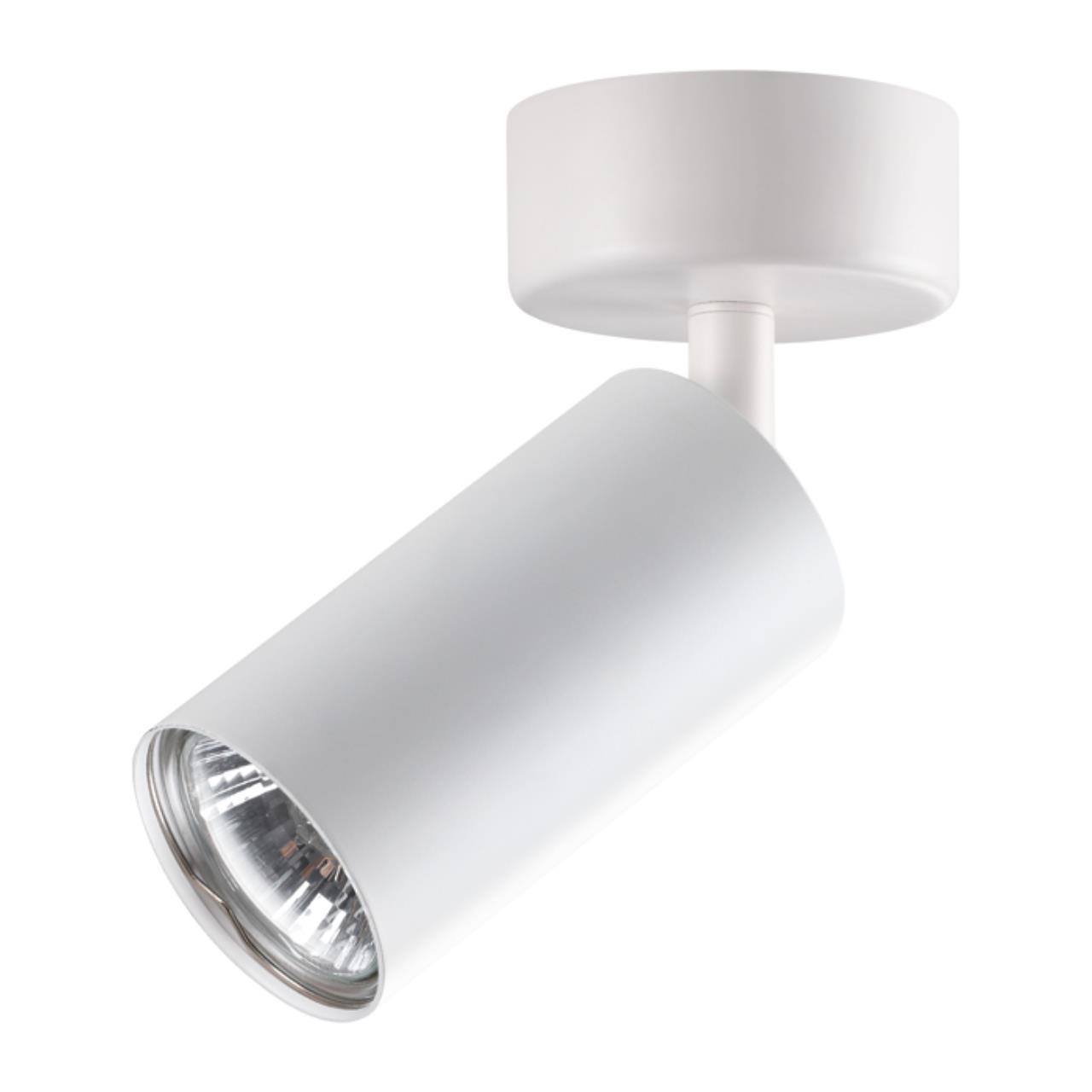 370394 OVER NT18 101 белый Накладной светильник IP20 GU10 50W 220V PIPE