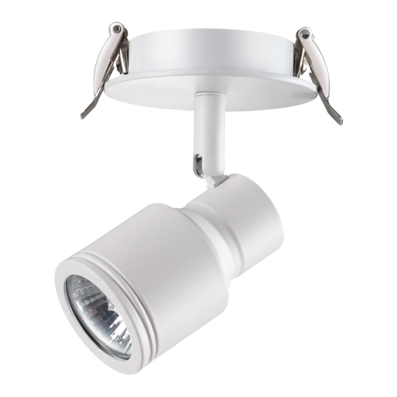 370395 SPOT NT18 101 белый Встраиваемый светильник IP20 GU10 50W 220V PIPE