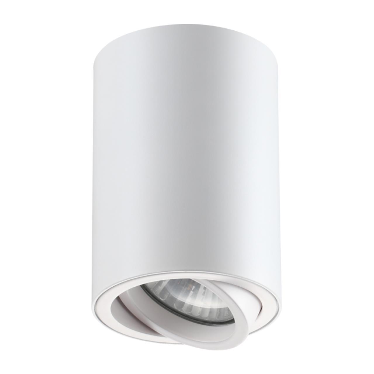 370397 OVER NT18 101 белый Накладной светильник IP20 GU10 50W 220V PIPE