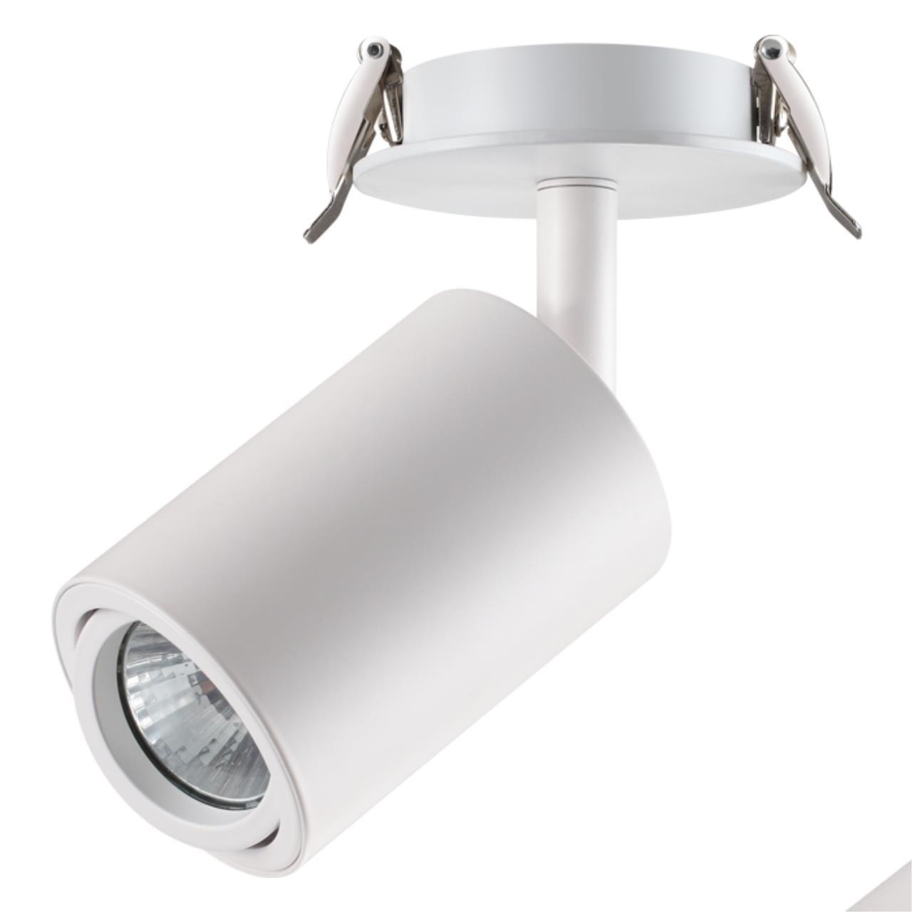 370398 SPOT NT18 101 белый Встраиваемый светильник IP20 GU10 50W 220V PIPE