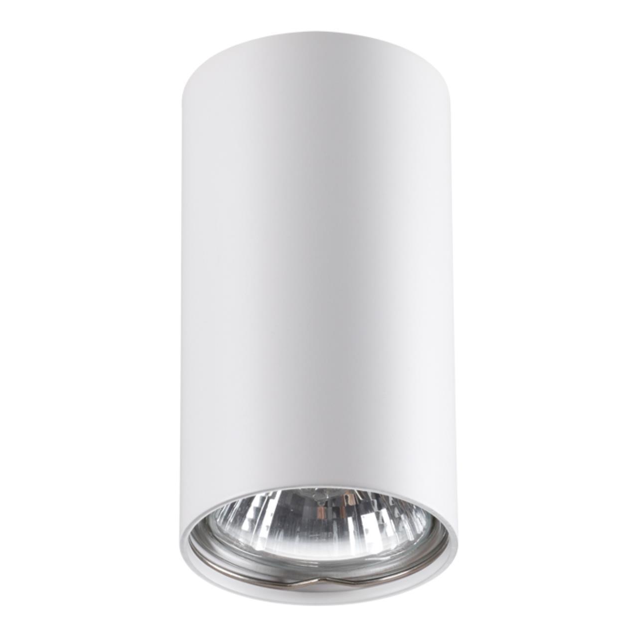 370399 OVER NT18 101 белый Накладной светильник IP20 GU10 50W 220V PIPE