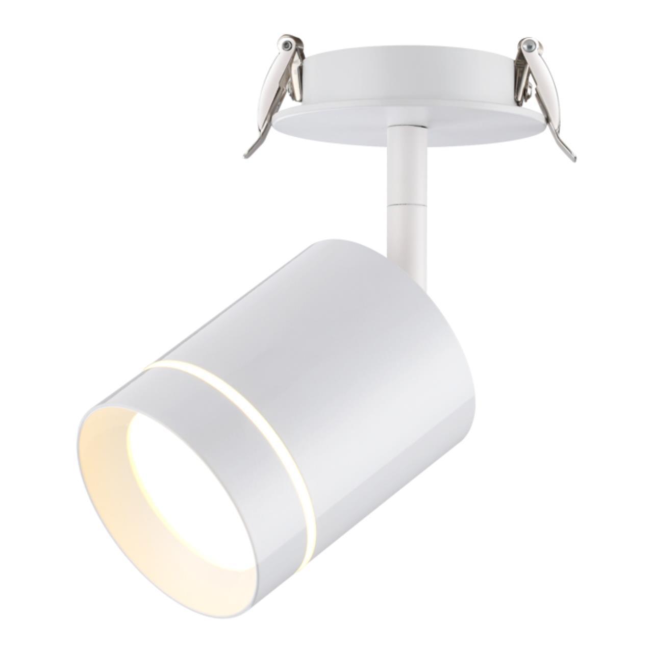 357687 SPOT NT18 071 белый Встраиваемый светильник IP20 LED 3000K 9W 160-265V ARUM