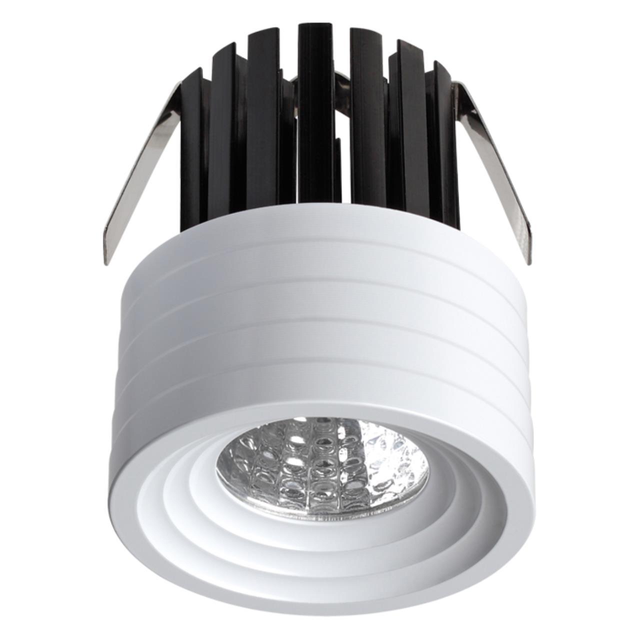 357699 SPOT NT18 090 белый Встраиваемый светильник IP20 LED 3000K 3W 160-265V DOT