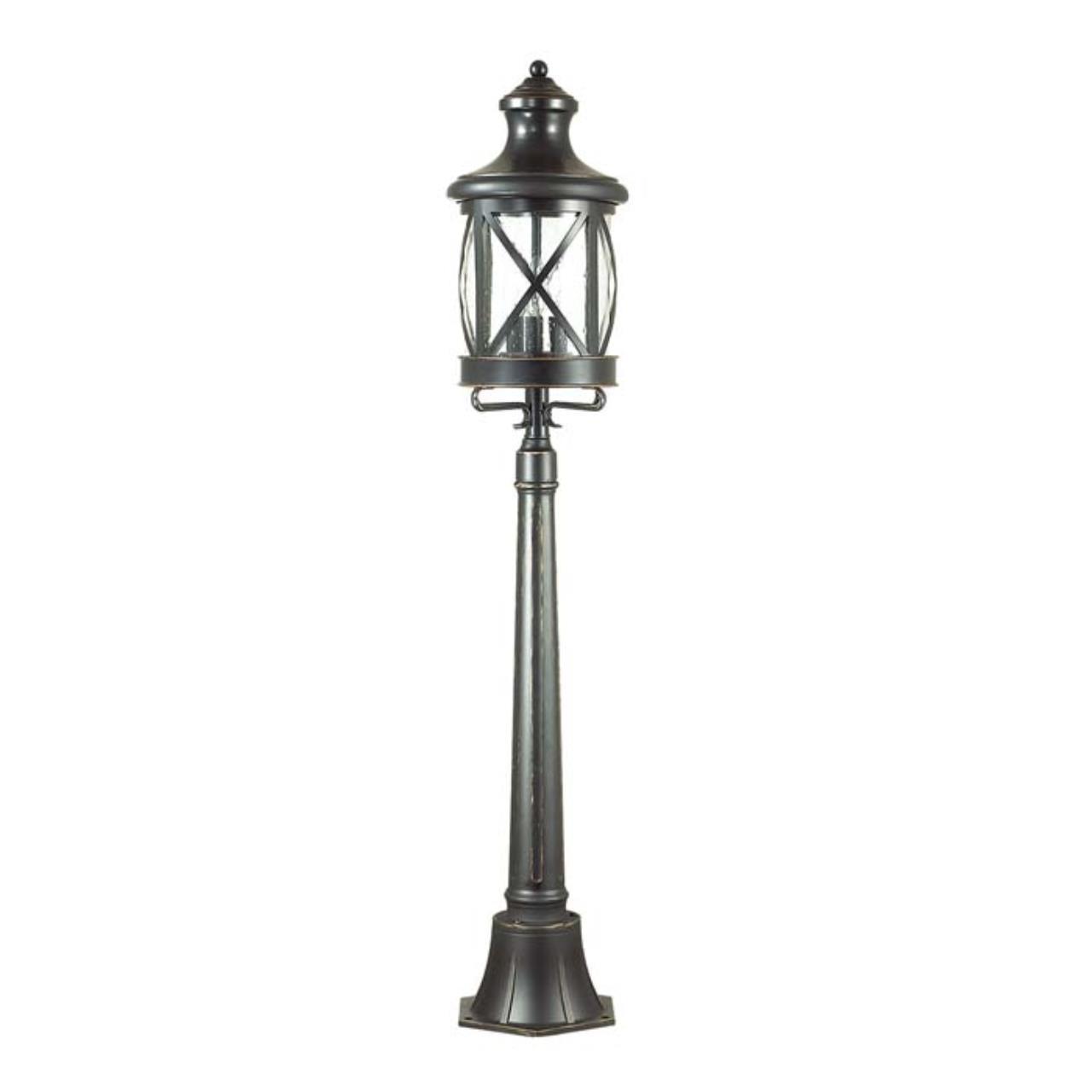 4045/3F NATURE ODL18 709 черный/золотая патина Уличный светильник, 124см IP44 E14 3*60W 220V SATION