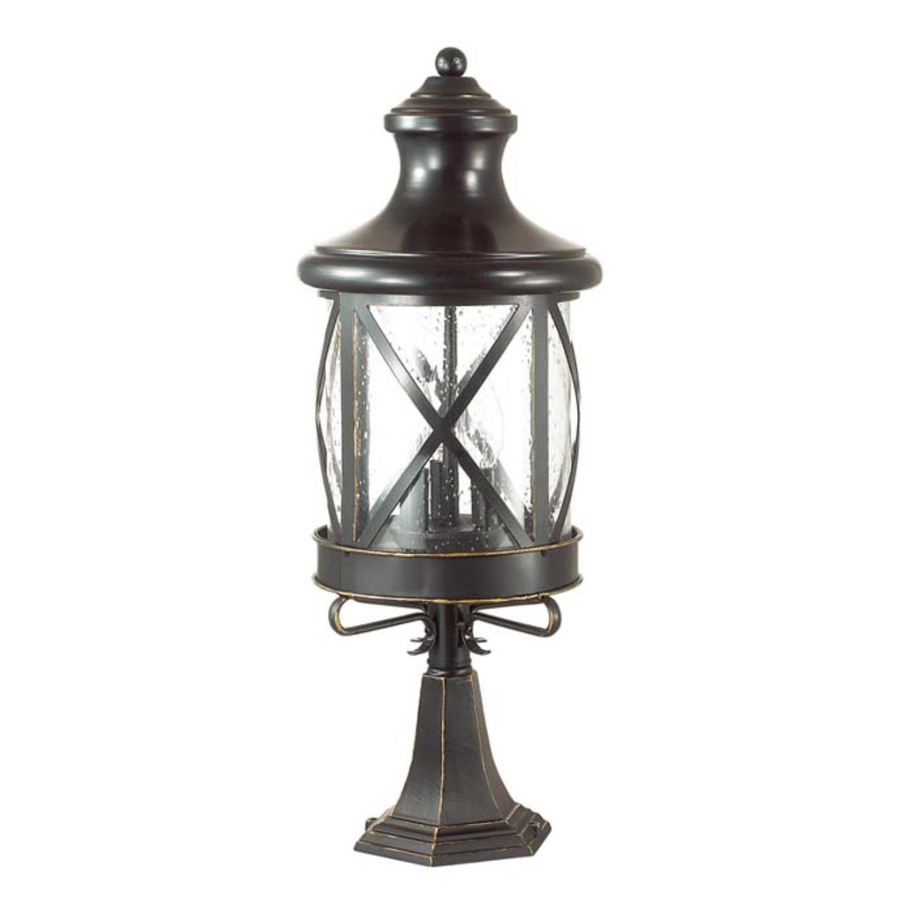 4045/3B NATURE ODL18 709 черный/золотая патина Уличный светильник на столб IP44 E14 3*60W 220V SATIO