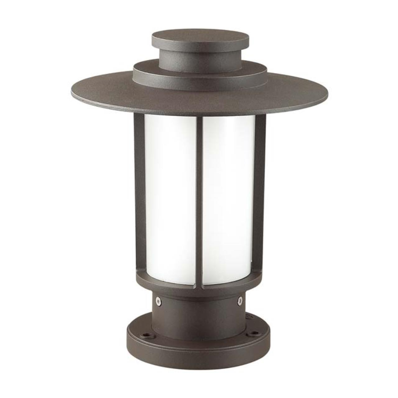 4047/1B NATURE ODL18 703 опал/темно-серый Уличный светильник на столб IP54 E27 18W 220V MITO