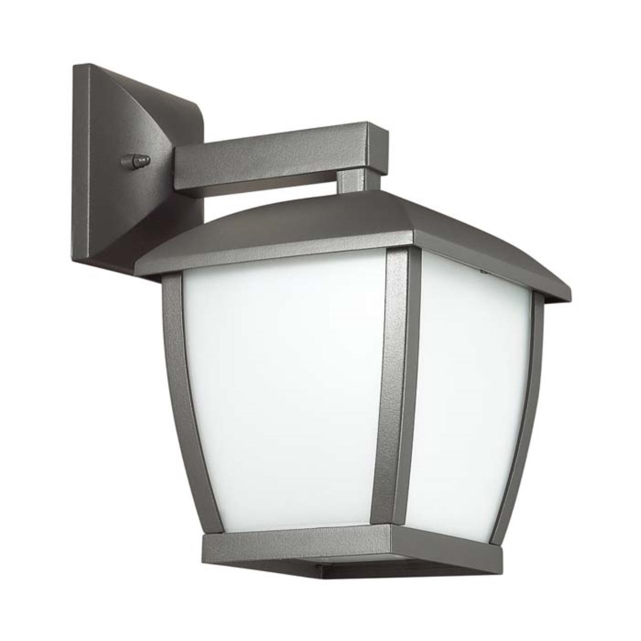 4051/1W NATURE ODL18 707 темно-серый/матовый белый Уличный настенный светильник IP44 E27 100W 220V T