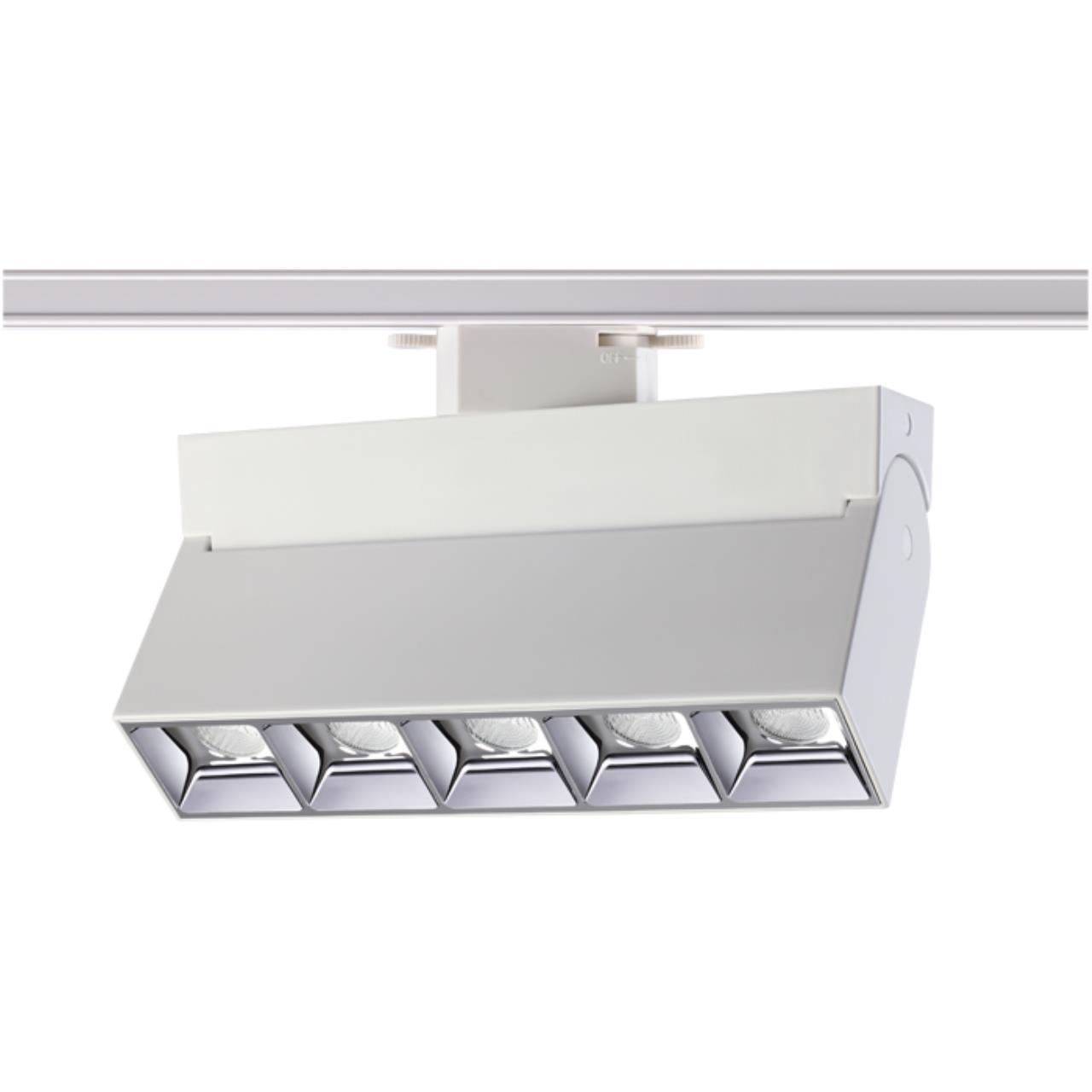 357842 PORT NT18 058 белый/хром Трековый светильник IP33 LED 3000К 25W 110-265V EOS