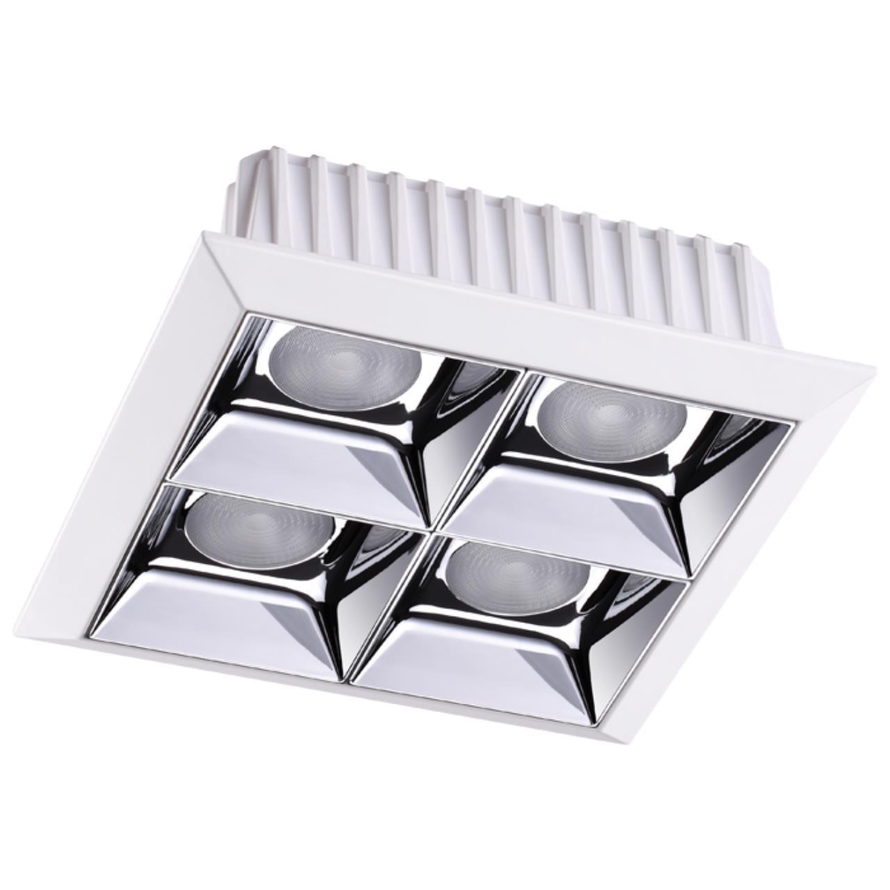 357850 SPOT NT18 054 белый/хром Встраиваемый светильник IP33 LED 3000К 28W 110-265V ANTEY
