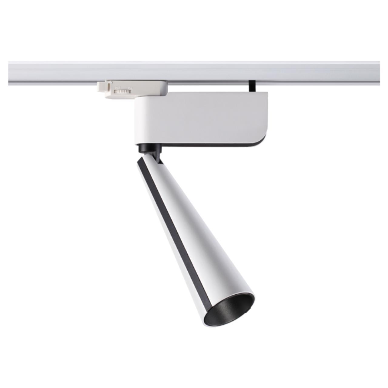 357863 PORT NT18 056 белый/черный Трековый светильник IP20 LED 3000К 23W 220-240V ZEUS