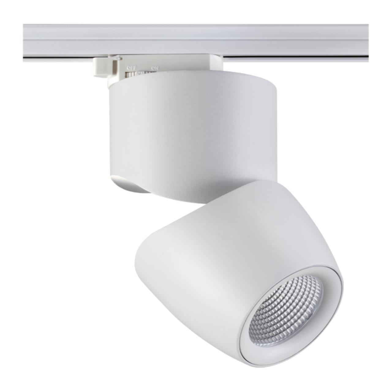 357867 PORT NT18 057 белый Трековый светильник IP20 LED 3000К 25W 220-240V ZEUS