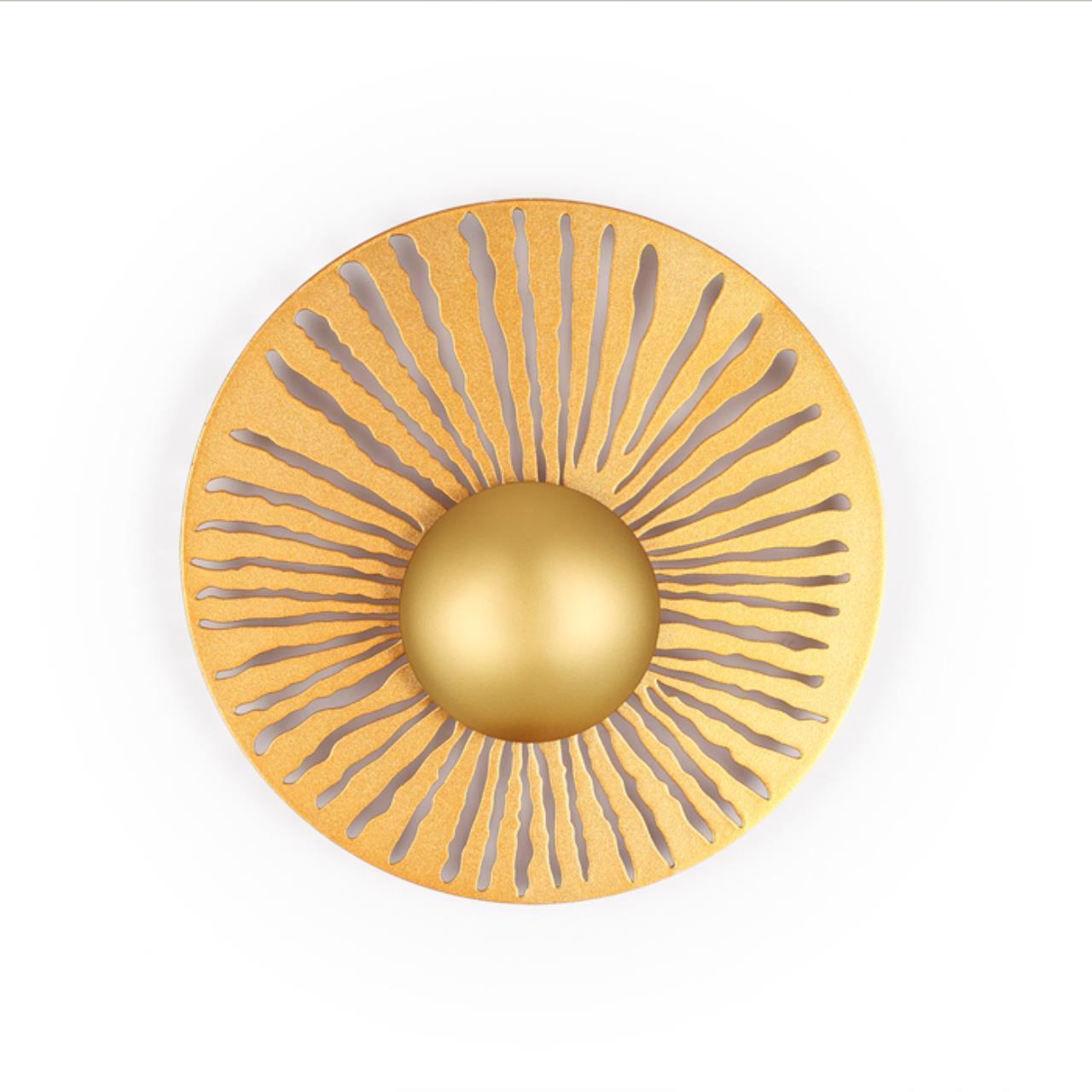 3866/10WL HIGHTECH ODL19 171 золотистый/металл Настенный светильник LED 10W 800Лм 3000К W280хH75 DON