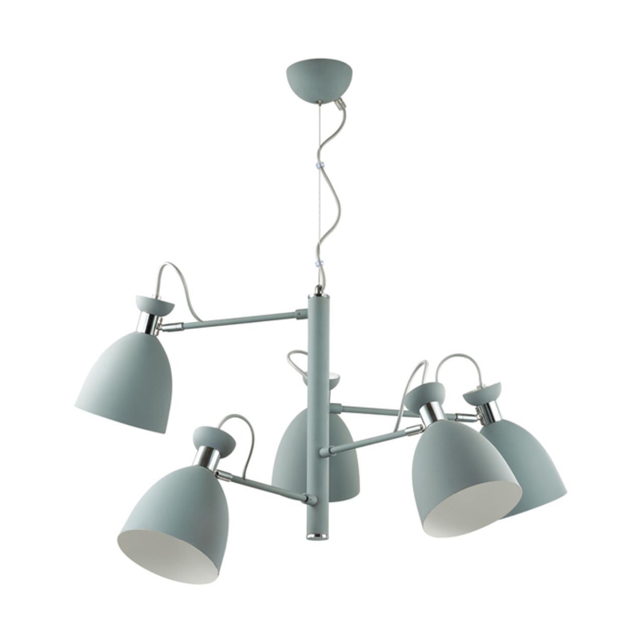 3735/5 MODERNI LN19 89 матовый серый, хром Люстра E27 5*60W 220V KIZZY