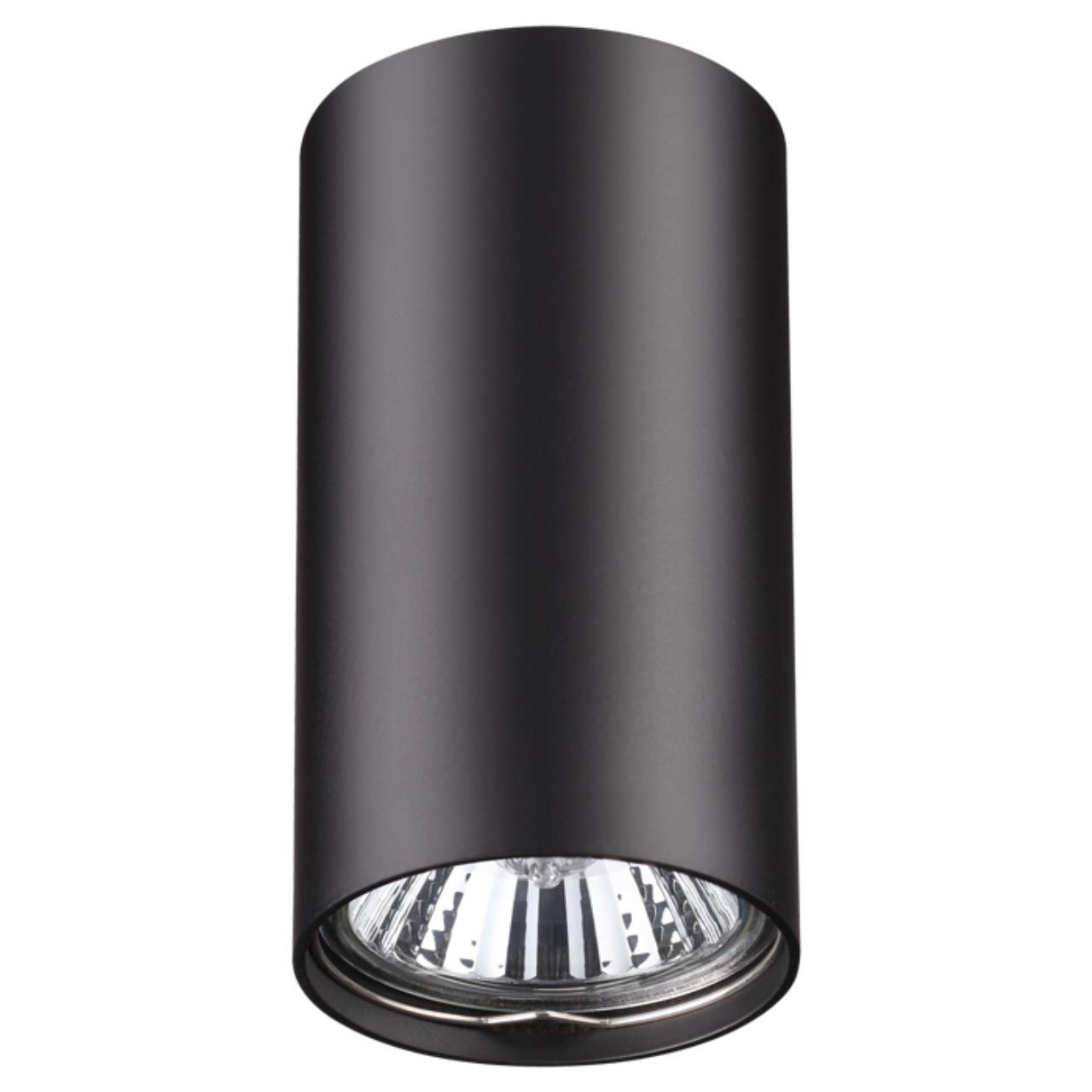 370420 OVER NT19 101 черный Накладной светильник IP20 GU10 50W 220V PIPE