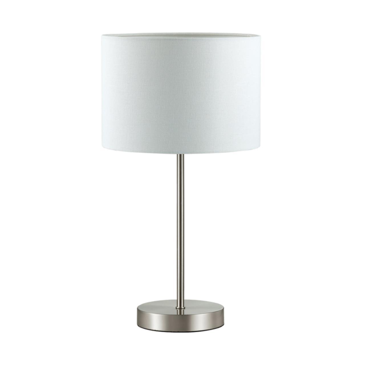 3745/1T MODERNI LN19 86 никель Настольная лампа E27 1*60W 220V NIKKI