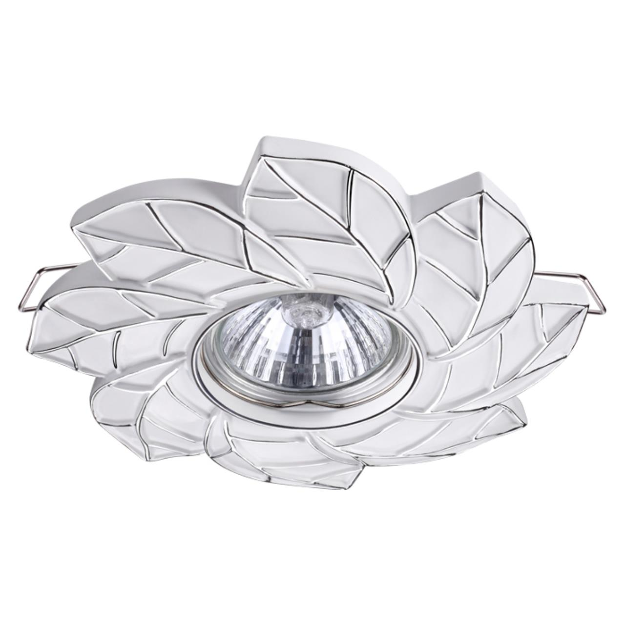 370488 SPOT NT19 115 белый/серебро Встраиваемый светильник IP20 GU10 50W 220V PATTERN
