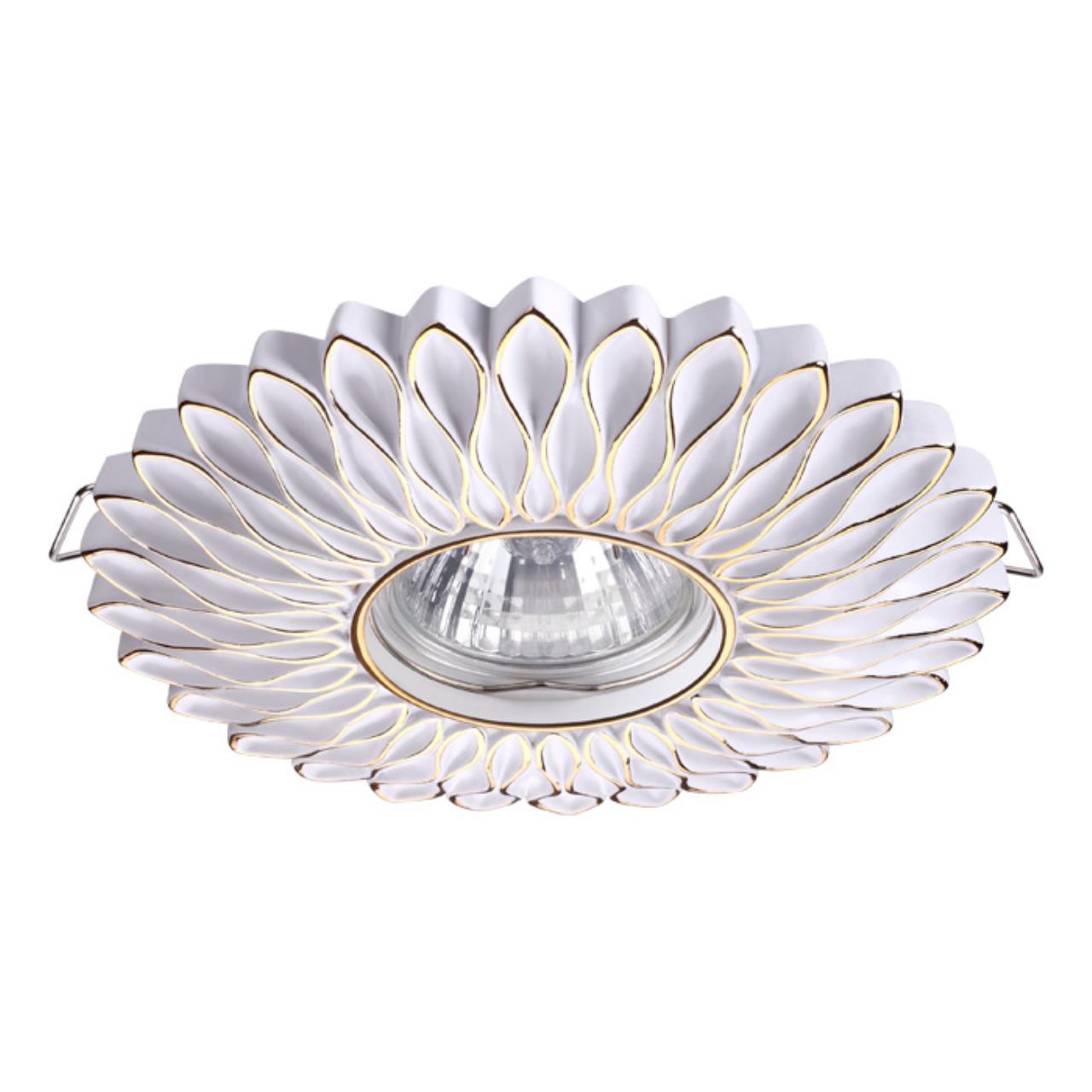 370489 SPOT NT19 115 белый/золото Встраиваемый светильник IP20 GU10 50W 220V PATTERN