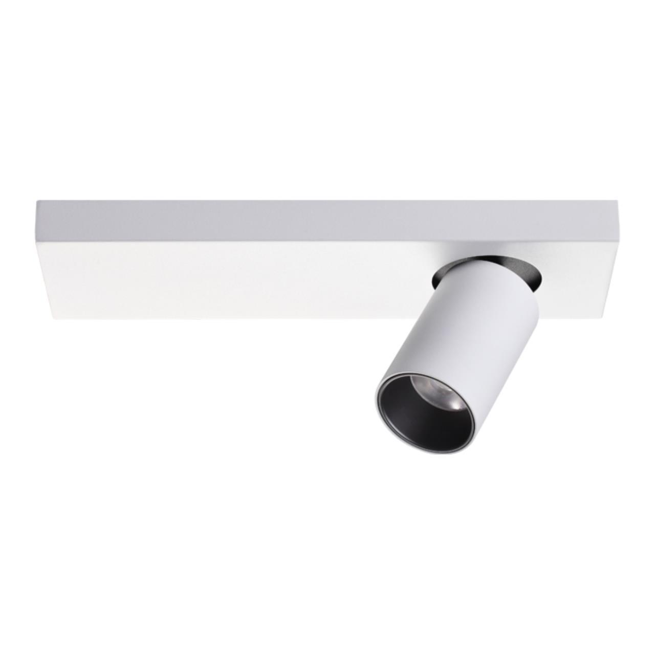 357934 OVER NT19 027 белый/черный Накладной светильник IP20 LED 3000К 11W 220-240V BELLA