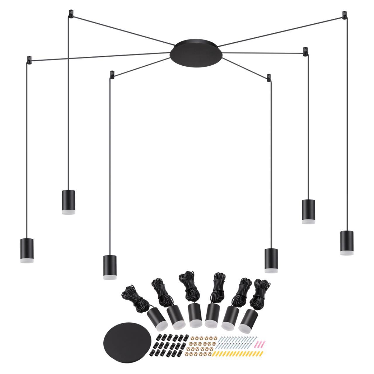 357937 OVER NT19 023 черный Накладной светильник IP20 LED 3000К 48W 220-240V WEB