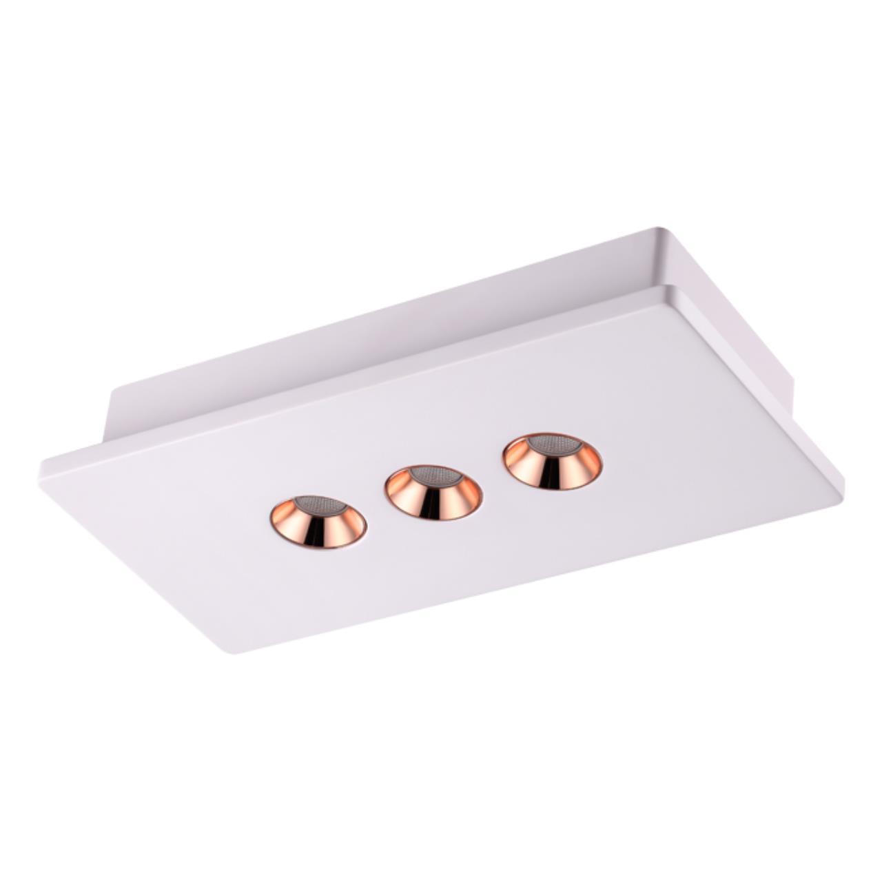 357940 OVER NT19 039 белый/медь Накладной светильник IP20 LED 3000К 12W 220-240V CARO