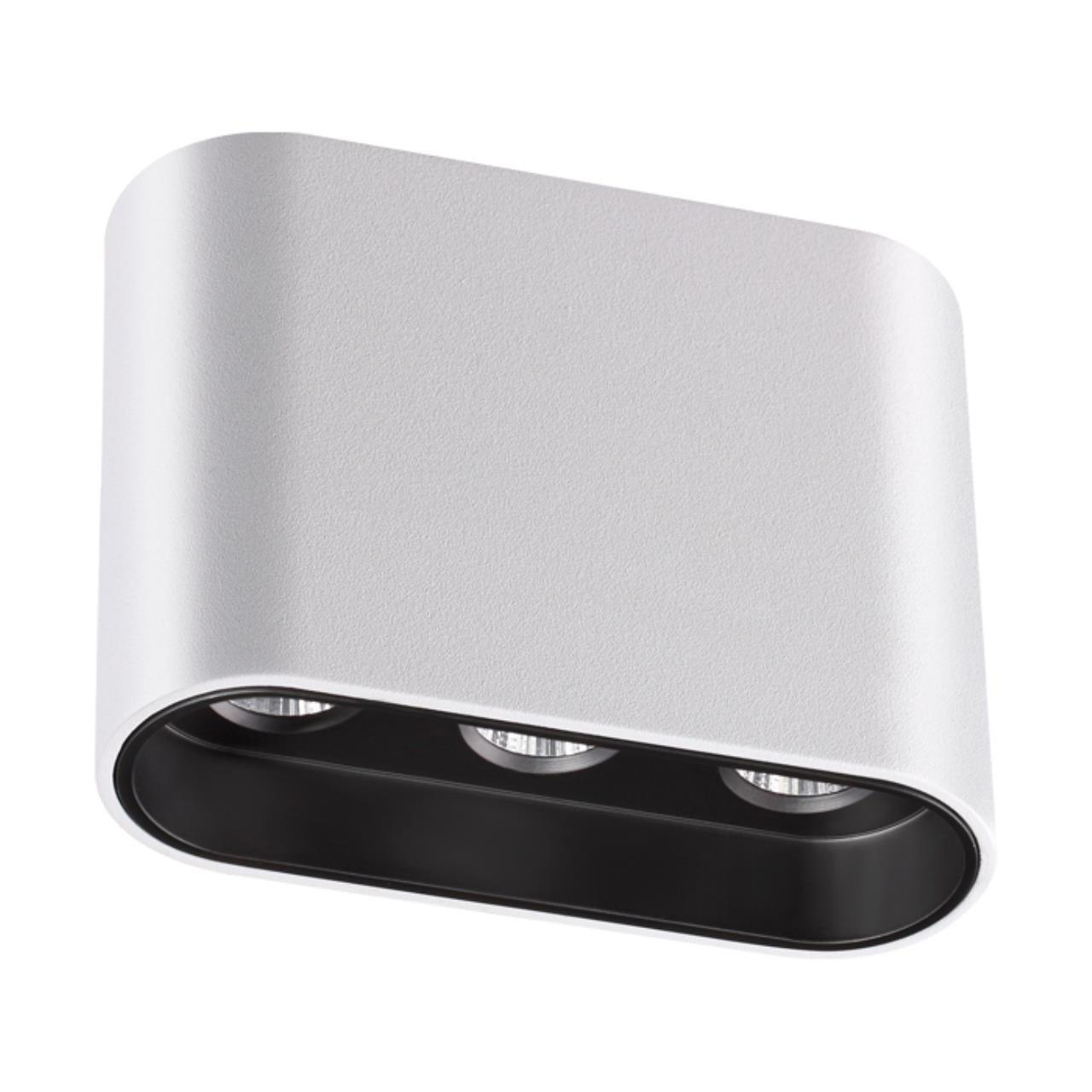 357948 OVER NT19 027 белый/черный Накладной светильник IP20 LED 3000К 7W 220-240V BELLA