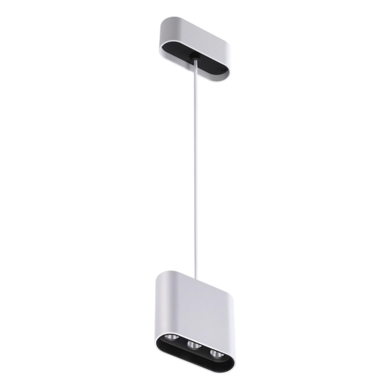 357950 OVER NT19 026 белый/черный Накладной светильник IP20 LED 3000К 7W 220-240V BELLA