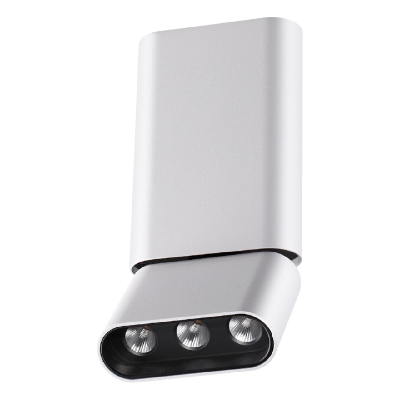 357952 OVER NT19 027 белый/черный Накладной светильник IP20 LED 3000К 12W 220-240V BELLA