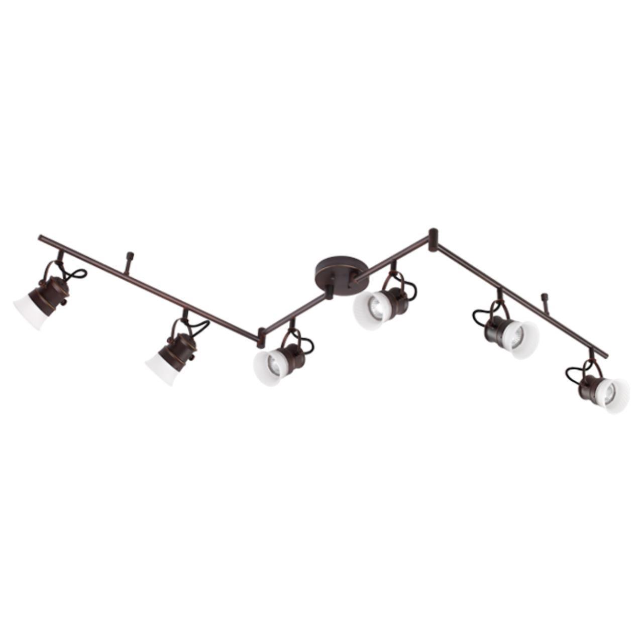 370557 OVER NT19 106 коричневый Накладной светильник IP20 GU10 6*50W 230V VETERUM