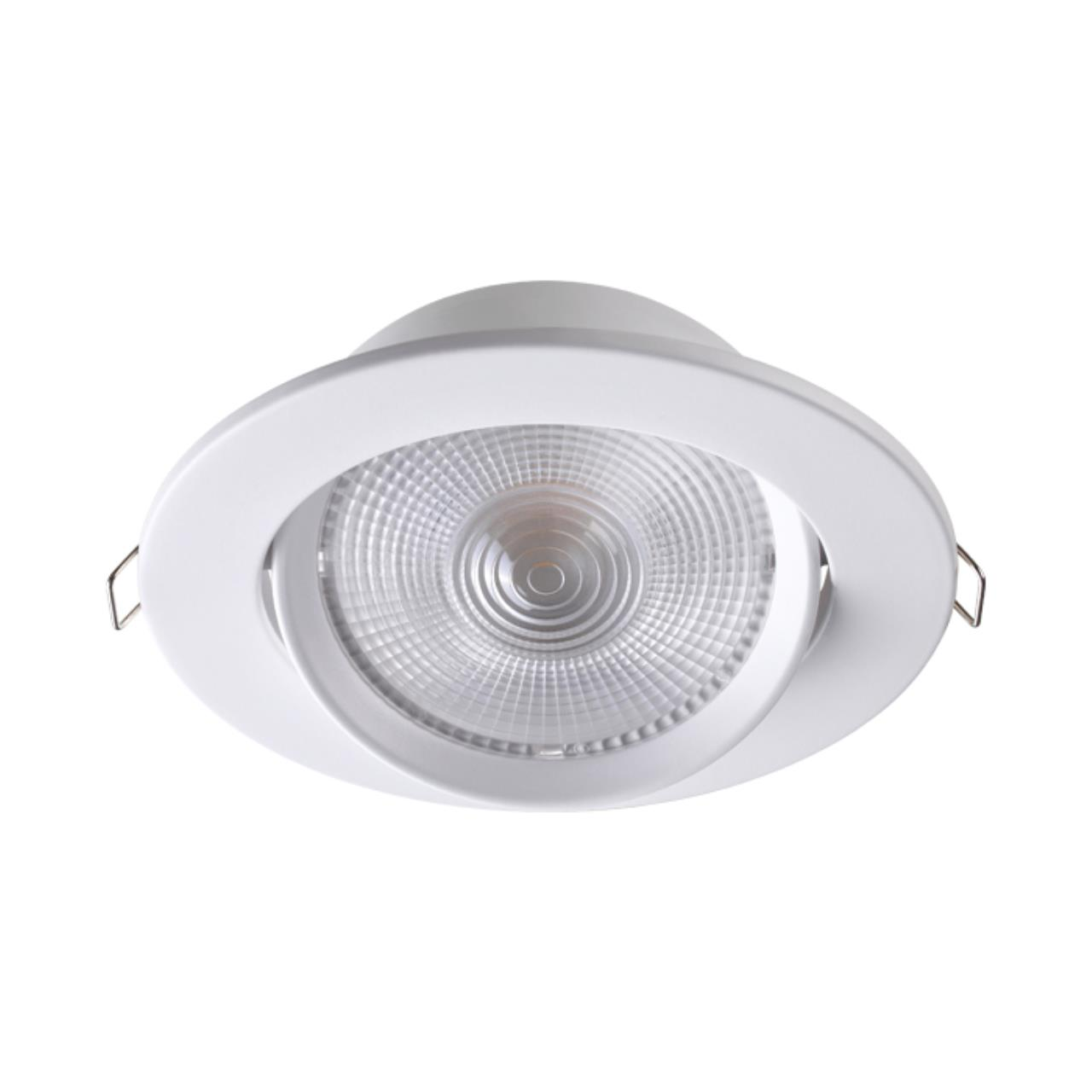 357999 SPOT NT19 091 белый Встраиваемый поворотный светильник IP20 LED 3000К 15W 85-265V STERN
