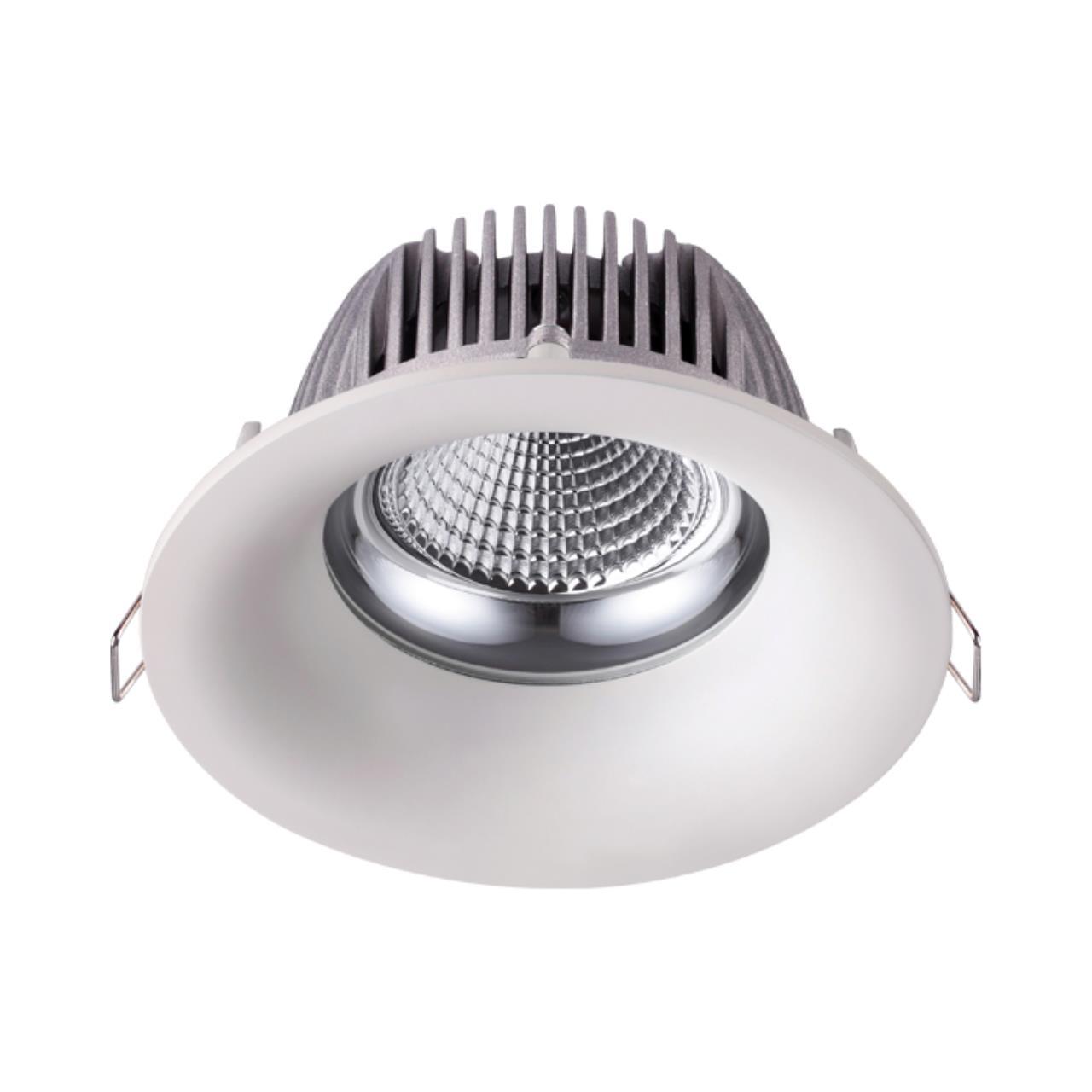 358024 SPOT NT19 091 белый Встраиваемый светильник IP20 LED 4100К 10W 220V GLOK