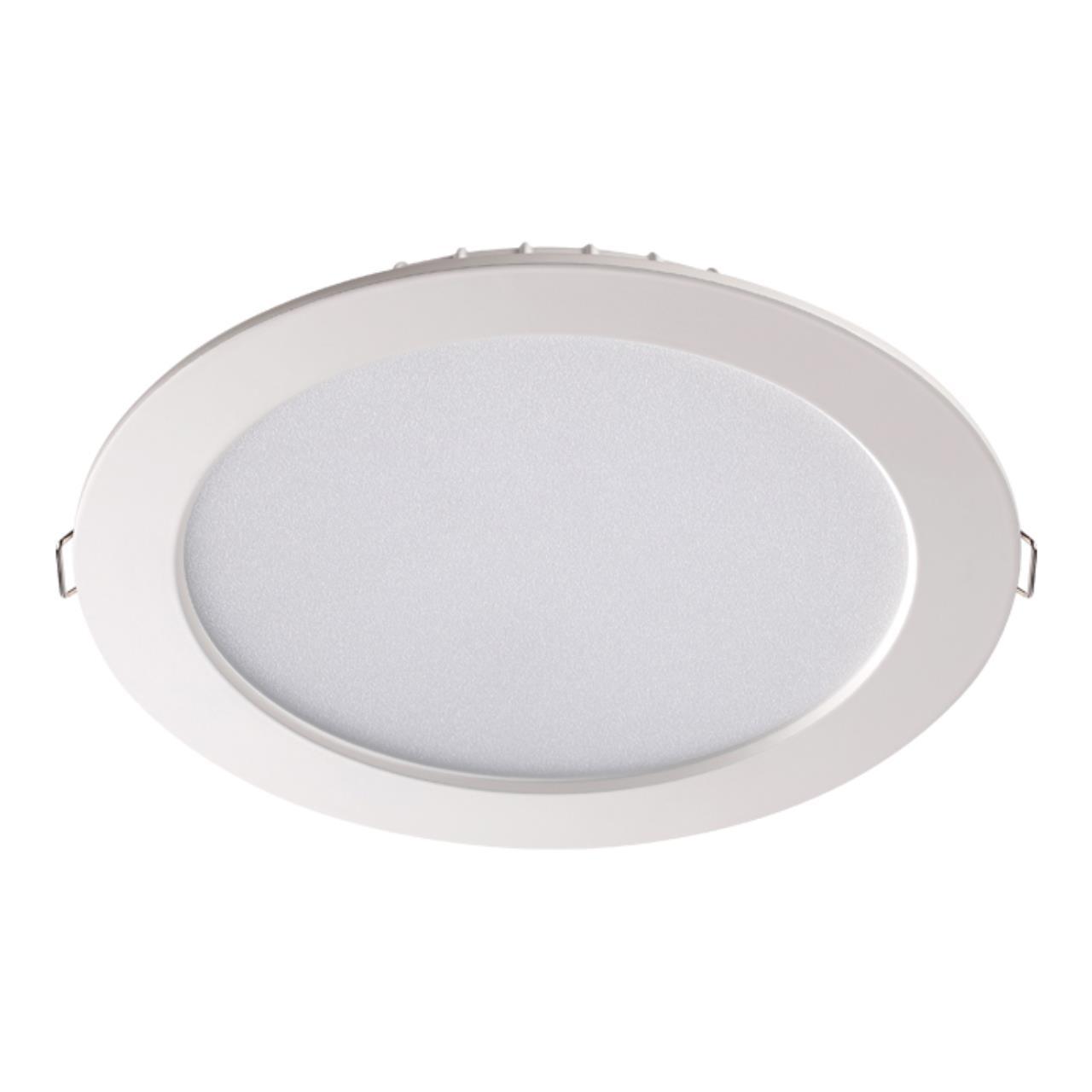 358030 SPOT NT19 079 белый Встраиваемый светильник IP20 LED 4100К 15W 220V LUNA