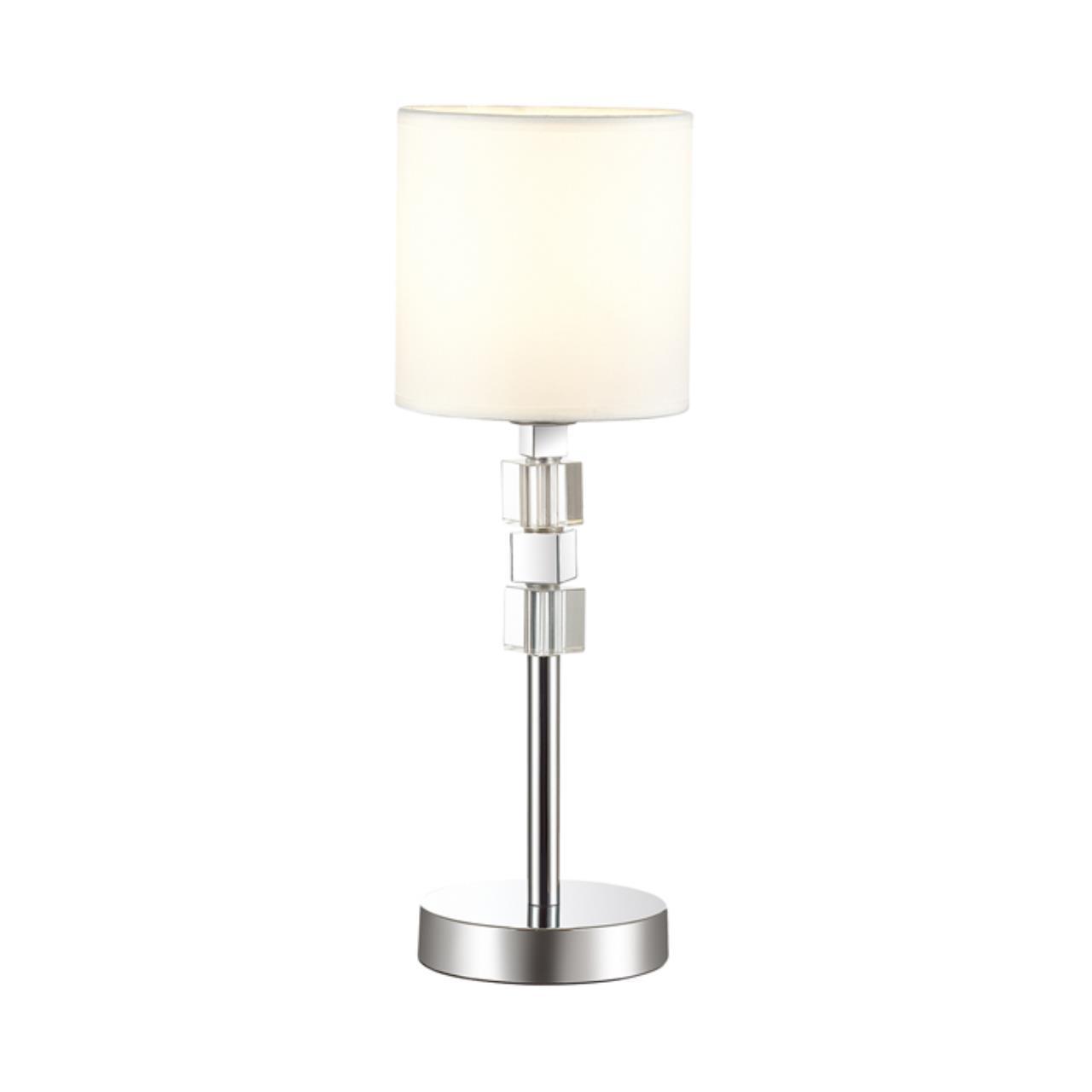 4113/1T MODERN ODL19 286 хром/хрусталь/белый Настольная лампа E14 1*40W PAVIA