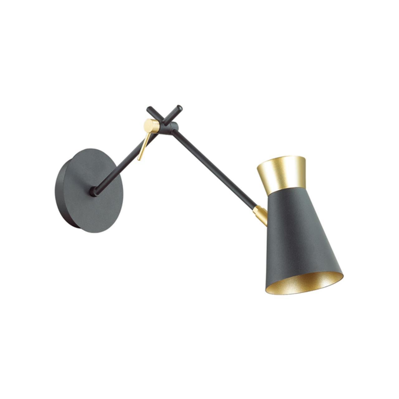 3790/1W LOFTI LN19 81 матовый черный, золотой Бра E14 1*40W 220V LIAM
